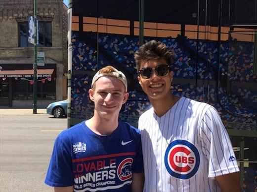 Cubs fans, Tyler and Jarrod