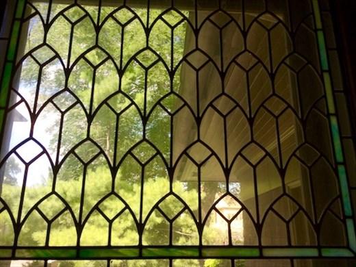 Art-glass windows, FLW Home