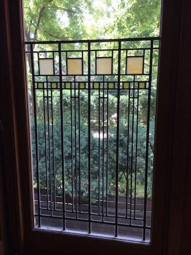 Art-glass window, FLW Home
