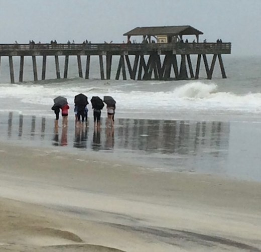 Not a good beach day, Brunswick, GA