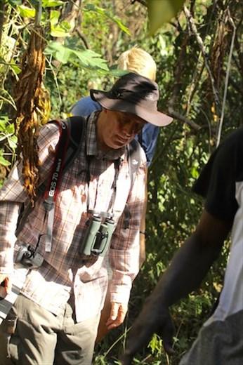 Ian on the trail,  Mt. Harmon NP, Grenada
