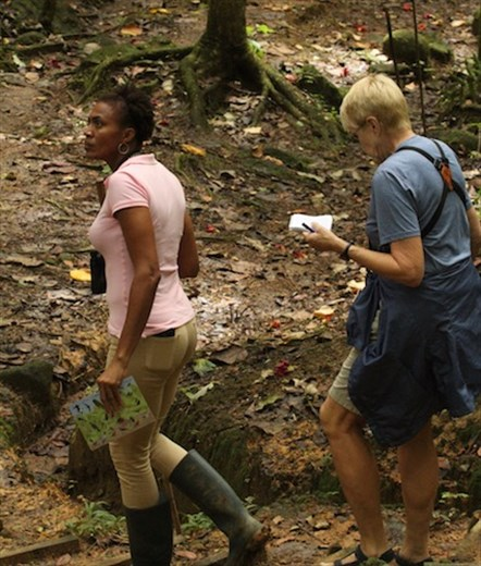Pamela and Connie, Millet Nature Reserve, St. Lucia