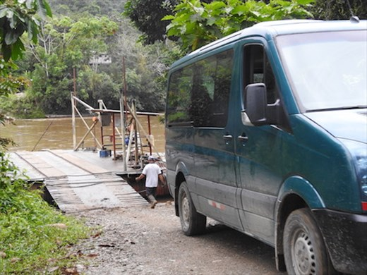Ferry crossing, Nangaritza River