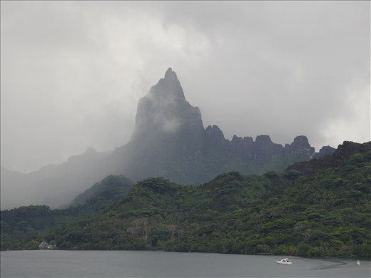 Moorea in the clouds
