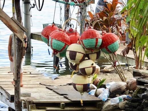 Fishermen's floats, Vaitape Bora Bora