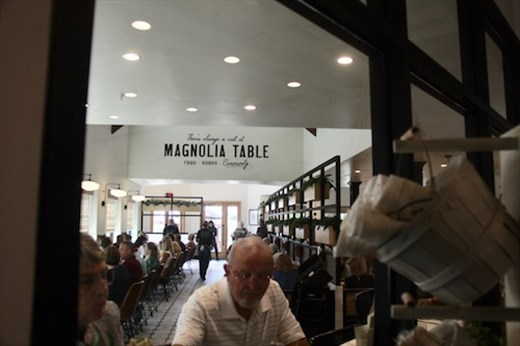The early bird gets the table, Magnolia Table, Waco TX