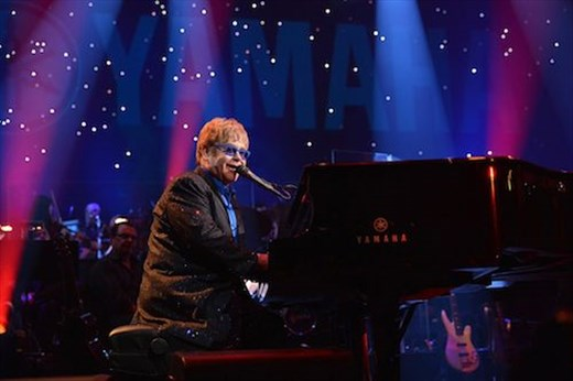 Elton John, up close and personal