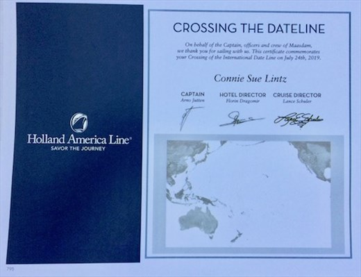 Cross the Date Line — Lose One Day