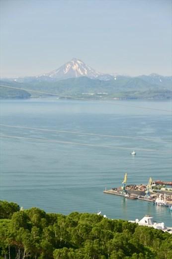 Avacha Bay and Mt. Kamchatka