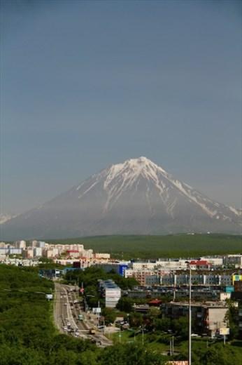 Petropavlovsk and volcano