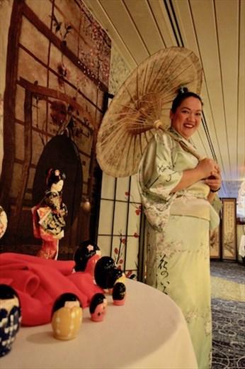 Celebrating Japanese cruise on Maasdam