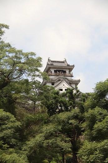 Climbing to Kochi Castle