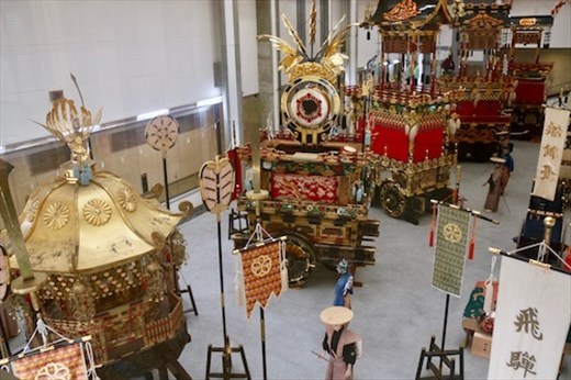 Festival Floats on display