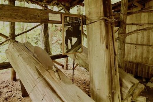 Cutting lumber by hand, Hida Folk Village
