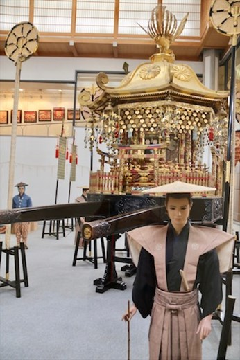 Japan's largest portable shrine, 2½ tons, carried by 40 men