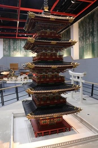Nikko's five-story pagoda model