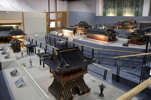 100 year-old scale model of shrine and temple center of Nikko