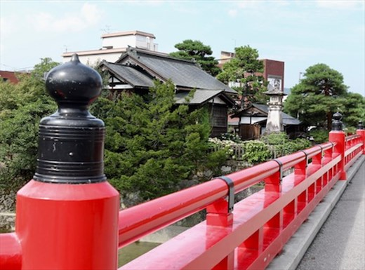 Red Bridge and Shrine, Takayama