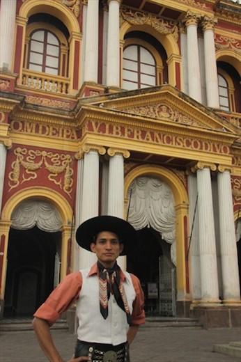 Gaucho and San Francisco Church, Salta
