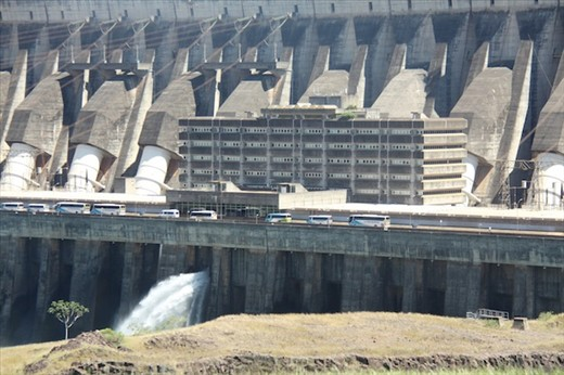 Itaipu Dam, largest in the world (until 7 Gorges is finished)