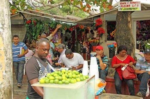 Flower market, Cartagena