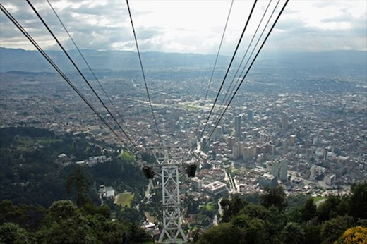 Bogota from high above