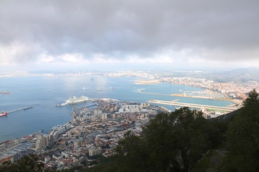 Port of Gibraltar from the top of the rock