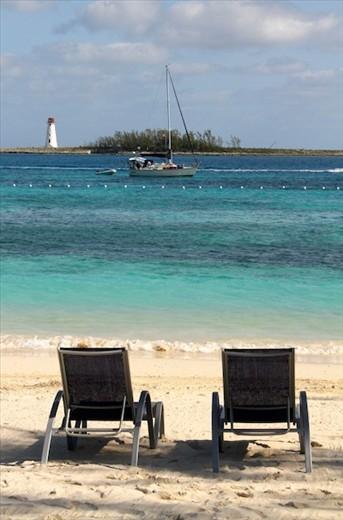 Beach and lighthouse, Nassau