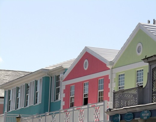 Pastel buildings, Nassau