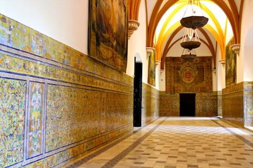 Moorish tiles, Alcazar at Sevilla