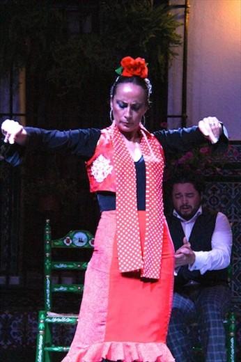 A stern face and attitude, flamenco in Sevilla