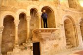 Connie at the rectory pulpit, Alcobaça Monastery: by vagabondstoo, Views[159]