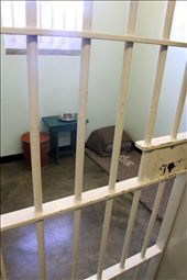 Mandela's cell, home for 18 years, Robben Island WHS: by vagabondstoo, Views[287]