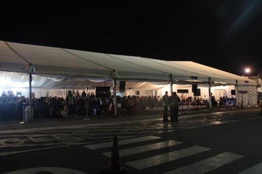 Nairobi airport tent
