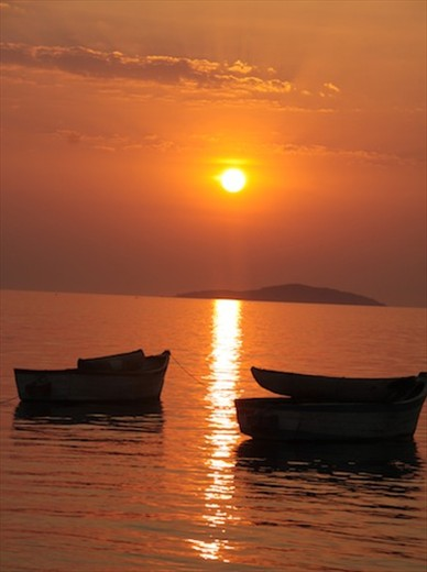 Sunset, Cape Maclear on Lake Malawi