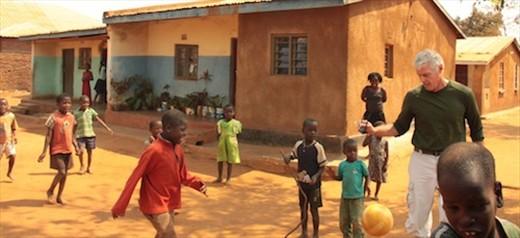John and kids, Lilongwe