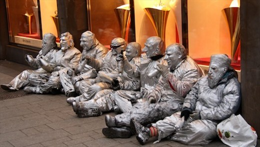 Street mimes, Cologne