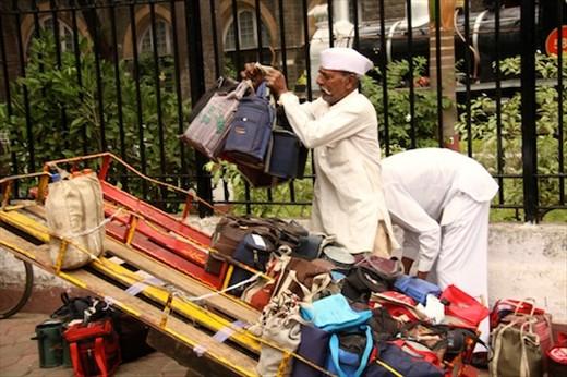 Dabbawallas delivering lunch, Mumbai