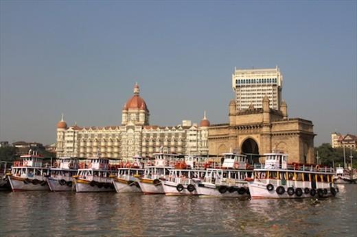India Gate and Taj Hotel from Elephant Island boat