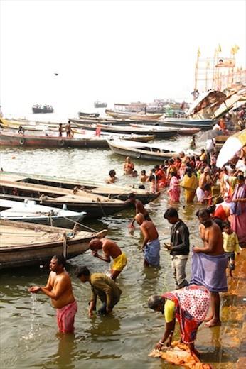 Morning ablutions, Varanasi