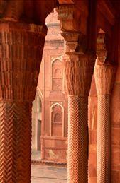Sandstone columns, Agra Fort: by vagabondstoo, Views[250]