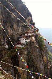 Tiger's Nest and prayer flags: by vagabondstoo, Views[620]