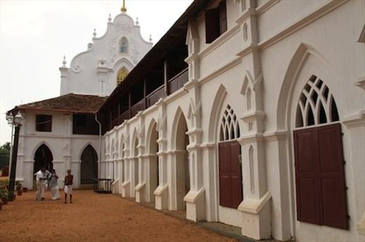 500-year old St. Mary's Church, Champakulan, Kerala Backwaters