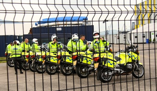 Queen's motorcycle escort, Belfast