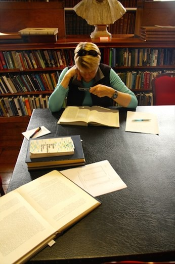 Connie, the genealogist, Armagh Public Library