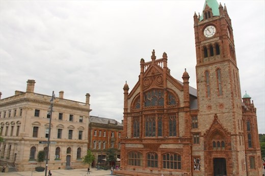 Derry Guildhall from the City Wall