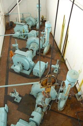 High pressure pumps, Titanic Dock and Pump House, Belfast