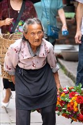 Old lady, Ancient Qing Village, Huanglongxi : by vagabondstoo, Views[195]