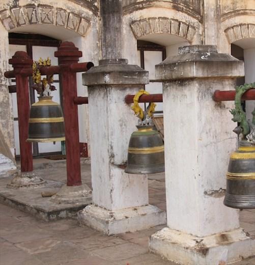 Temple bells, Ananda Paya, Bagan