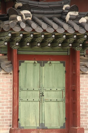 Behind the green door, Changdeokgung Palace